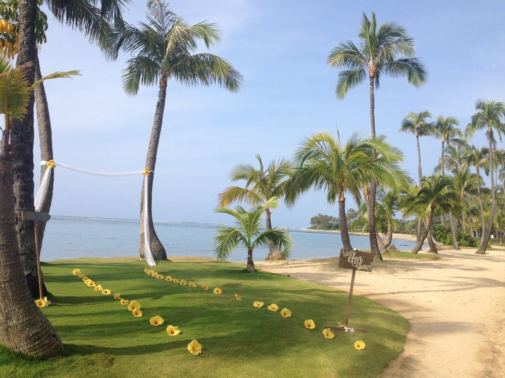 oahu beach hawaii wedding