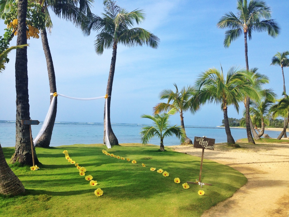 Kahala Beach is in front of The Kahala Resort, Honolulu, Hawaii, 96816