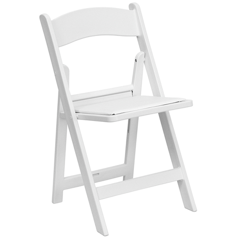 White Wooden Padded Chair