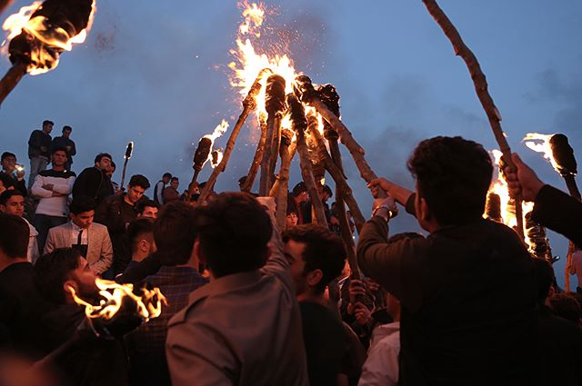 Around this time last year, when I was so lucky as to celebrate Newroz, the Kurdish New Year holiday. This was hands down one of the most extraordinary celebrations I've ever witnessed and I'm sad I'm not there this year. Through snow, hail and rain, the parade of fire and picnicking never stopped. Newroz pîroz be to everyone who celebrates.