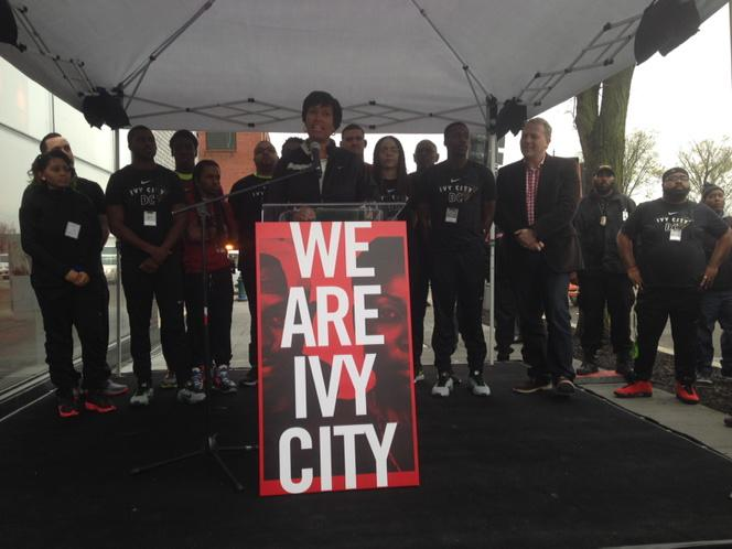 DC's Mayer Muriel Bowser as well as Nike's VP of Retail attended the Grand Opening Ceremony.