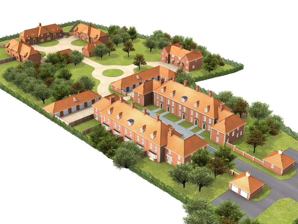 Former Research Station  Stoke Mandeville, Buckinghamshire  The proposed development of a former pre-fabricated research station to a grouped housing development within an open landscape environment.  Main Contractor:  Landlink Plc