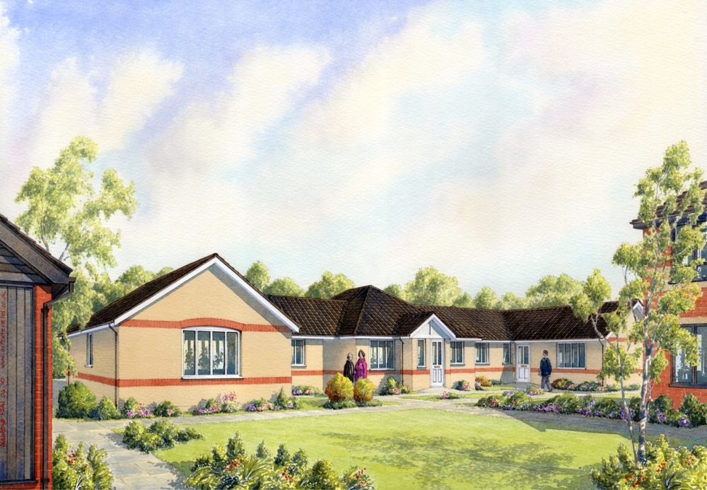 St Johns Court Ipswich  Development of new bungalows in Ipswich  Client:  Lorrimar Investments Ltd.