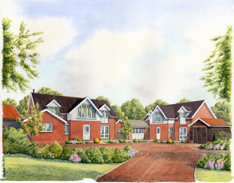 The Street  Walberswick  Two new dwellings with associated garages in Walberswick  Client:  Lorrimar Investments Ltd.