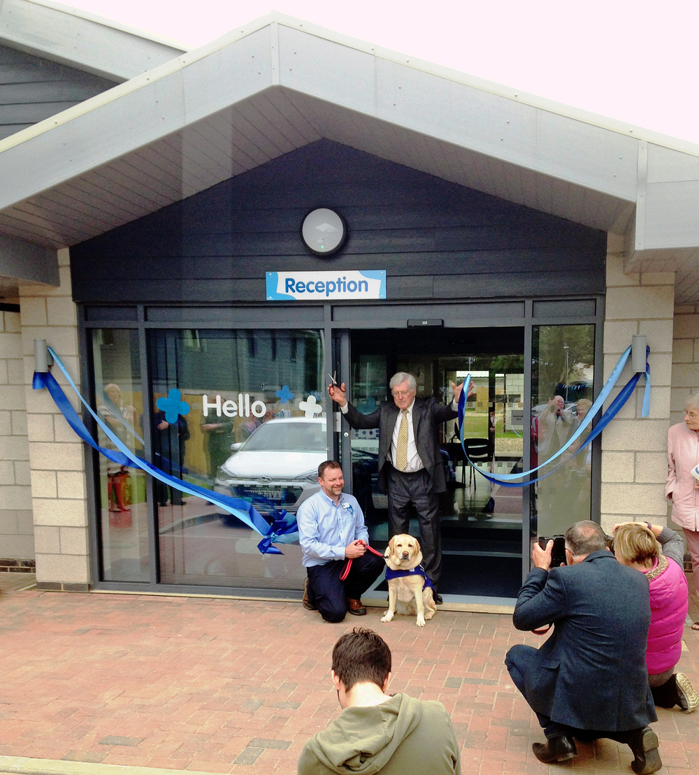 The Blue Cross re-homing centre was officially opened by Peter Purves, TV presenter, on 25th May 2016