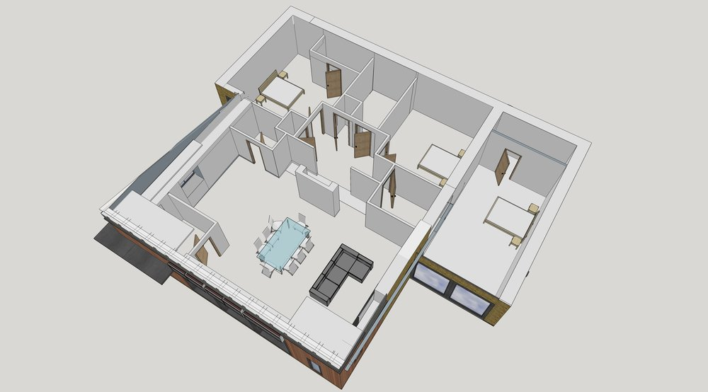 The interior layout boasts three spacious double bedrooms,two of which have en-suite shower rooms with a dressing area to the master bedroom and an open plan living space with kitchen diner accessed via the entrance lobby.