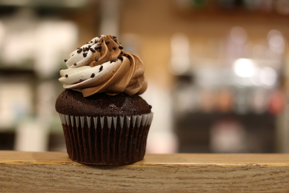 Chocolate-Vanilla Swirl Cupcake Photograph by Michael Snell