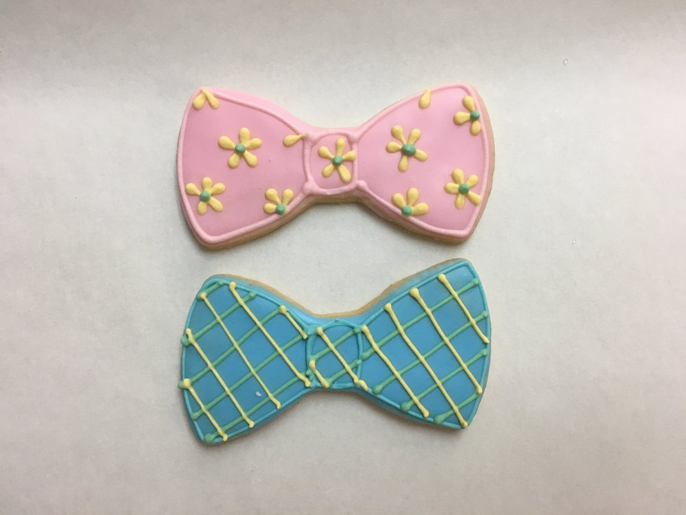 Hair and Bow Tie, Pink and Blue
