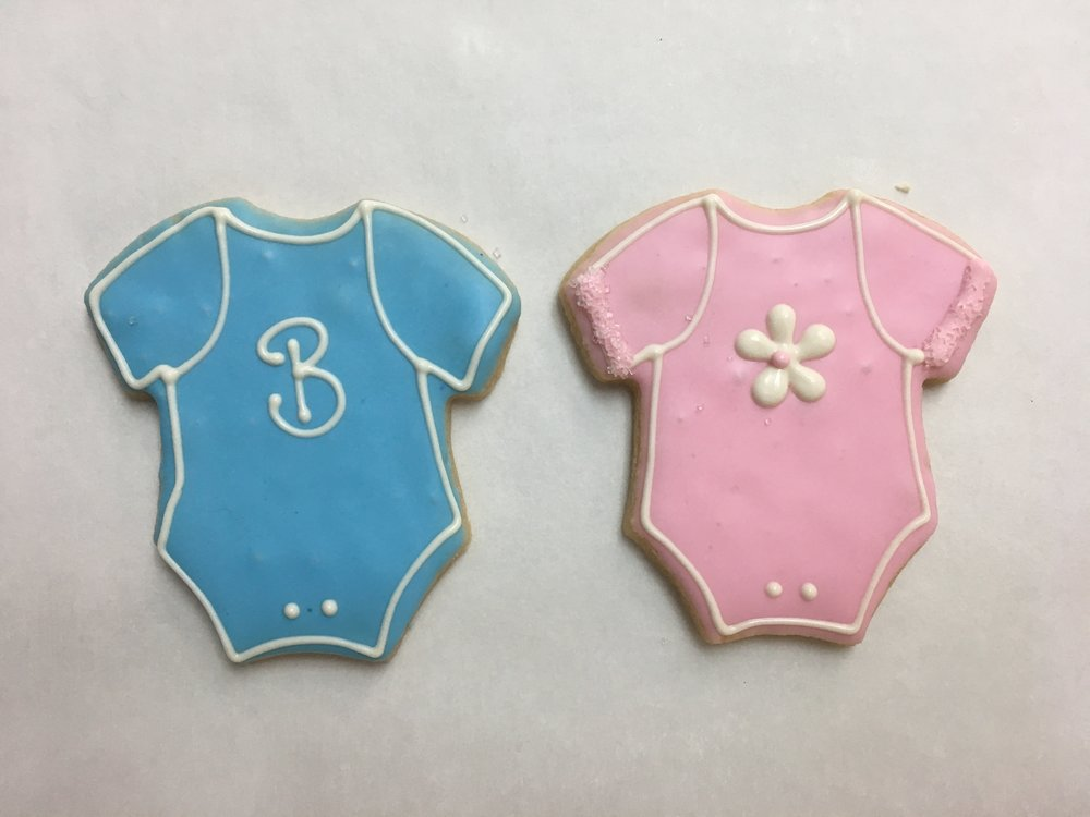 Small Onesie, Blue and Pink
