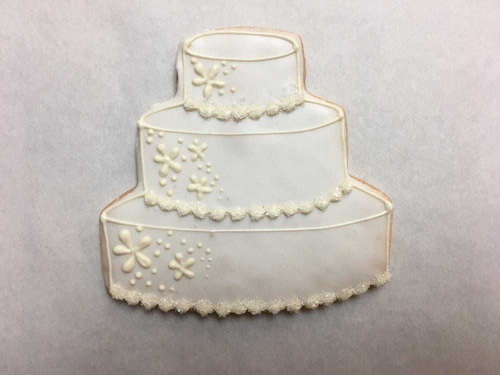 Large Wedding Cake, White Floral