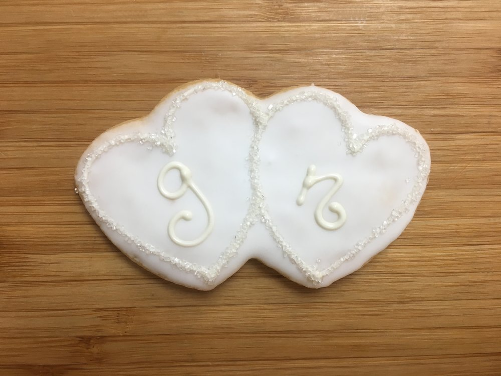 Double Hearts with Monogram