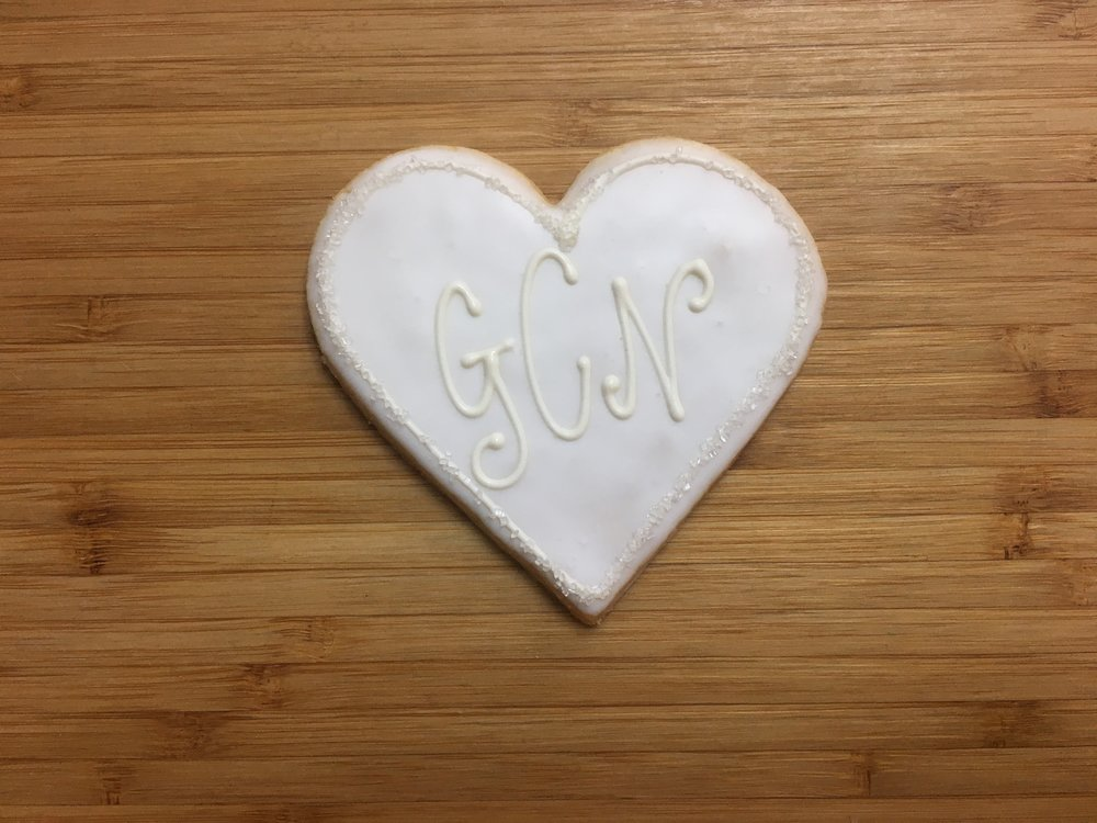 Large Heart with Monogram