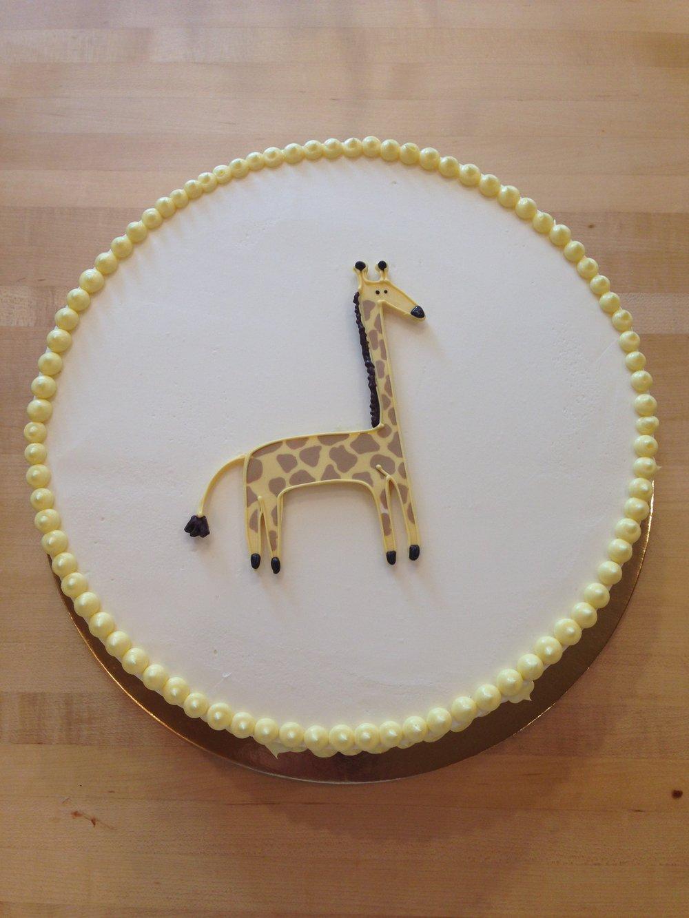 Giraffe, smash cake