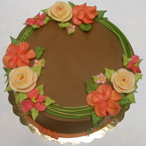 Floral Wreath in summer colors