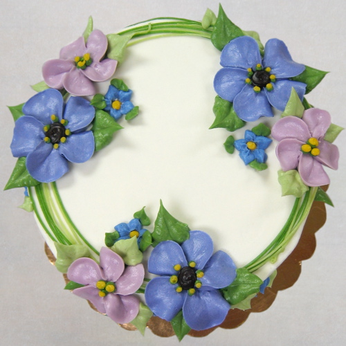 Floral Wreath in spring colors