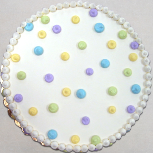 Abstract pastel polka dots