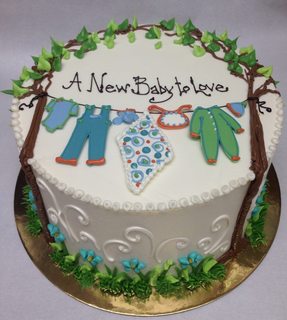 Baby Clothesline between Trees | a new baby to love