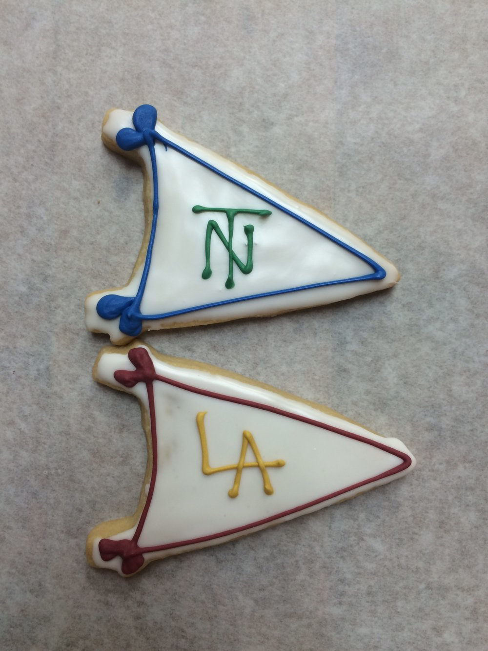 Pennants, New Trier and Loyola