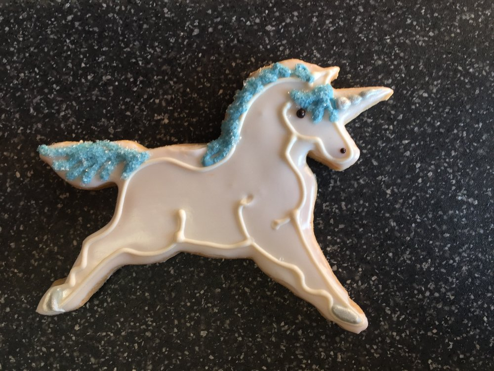Unicorn, blue
