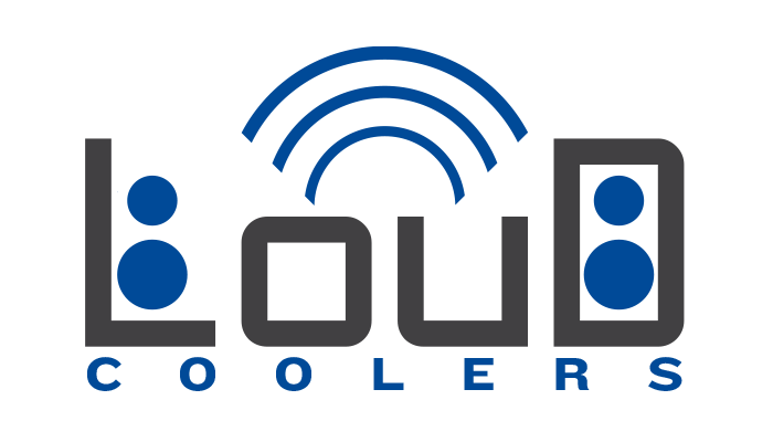 Loud Coolers, as their name implies, adds an extra use to their coolers by adding in a set of speakers to their product.   Logo concept