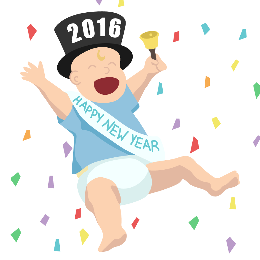 New Year's Day Social Media Concept