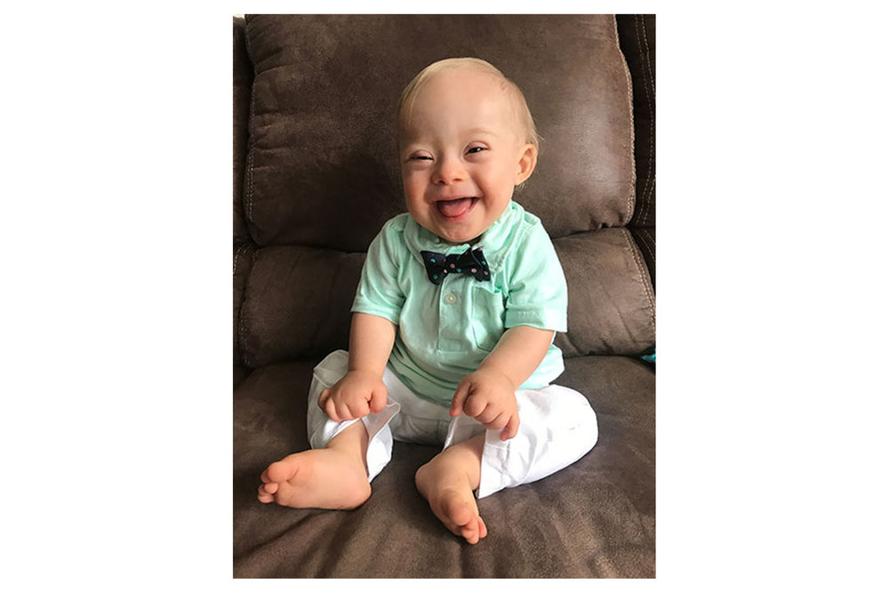 The 2018 Gerber Baby is one year old Lucas Warren.