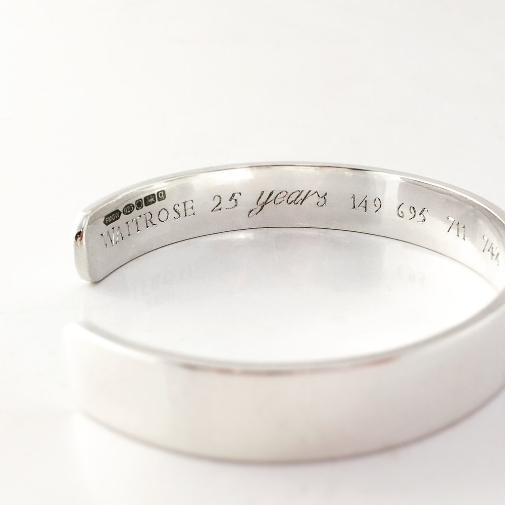 25 Years Service Bangle Commission, Waitrose