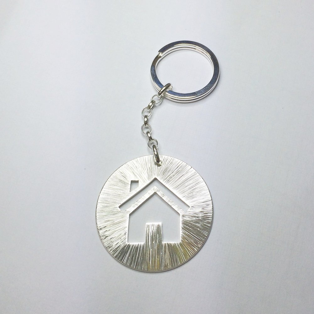 Hand Engraved House Keyring