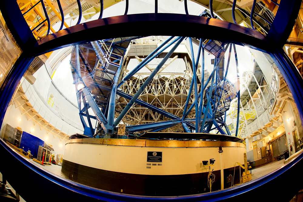The inside view of Keck Telescope