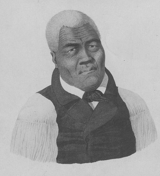 Portrait of king Kamehameha I (Hawaii State Archives)