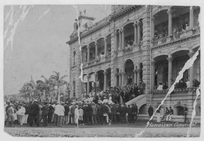 Proclaimation of the Republic of Hawaii  By Frank Clifford (Hawaii State Archives. Call number: PP-36-11-004) [Public domain], via Wikimedia Commons