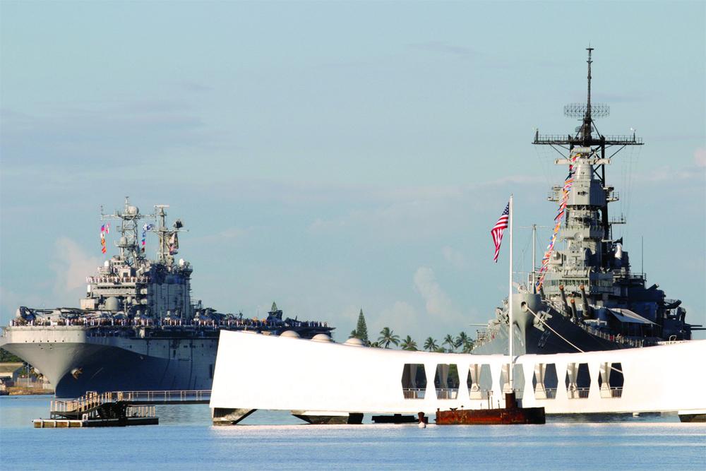 USS Arizona Memorial, Pearl Harbor, Hawaii by U.S Navy Photographer, PH1 William R. Goodwin