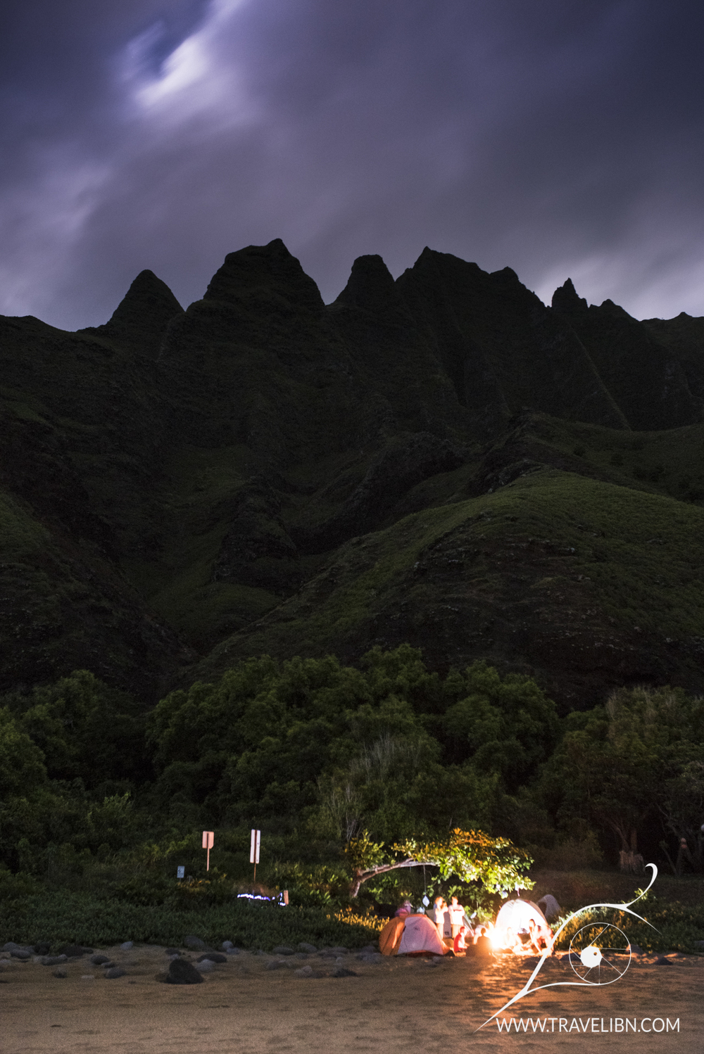 Night Kalalau Campground