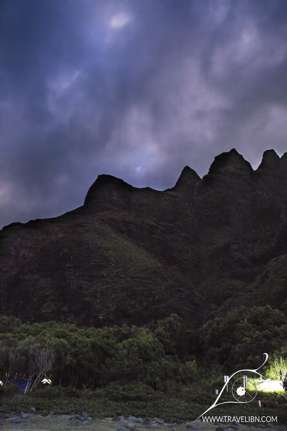 Kalalau Valley at night