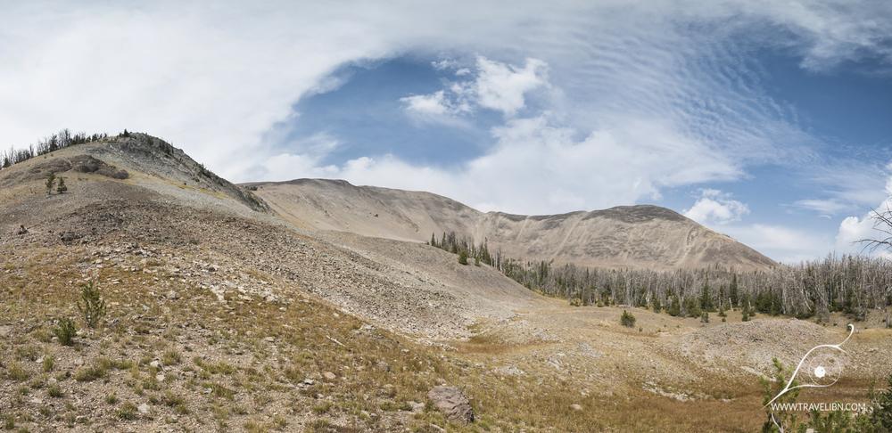 Last leg of Avalanche Peak Trail