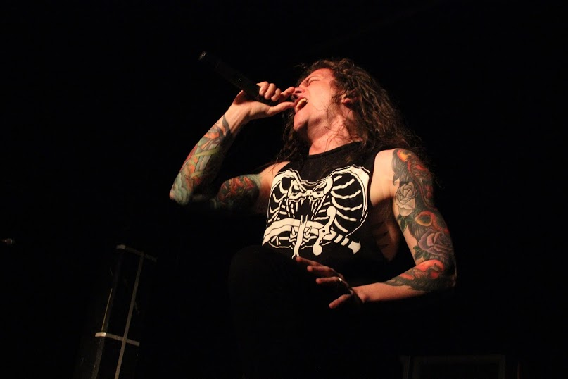 Lead vocalist Levi Benton at Backstage Live in San Antonio, Feb. 24, 2015.  Photo by Bryan Rolli