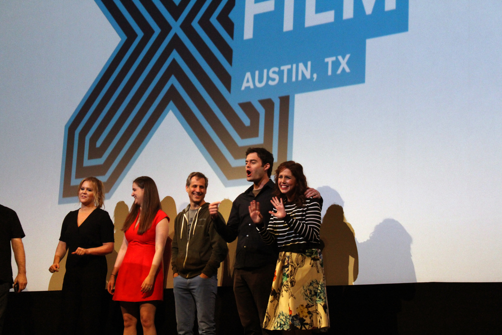 "The cast and crew of Amy Schumer's and Judd Apatow's 2015 summer flick ""Trainwreck"" make an appearance at the film's SXSW world premiere. Photo by Samantha J. Grasso."