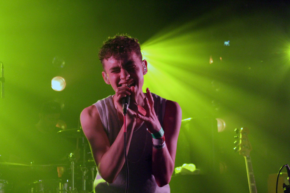 Olly Alexander of UK band Years and Years sings at the Cruel Rhythm showcase at Hype Hotel. Photo by Samantha J. Grasso.