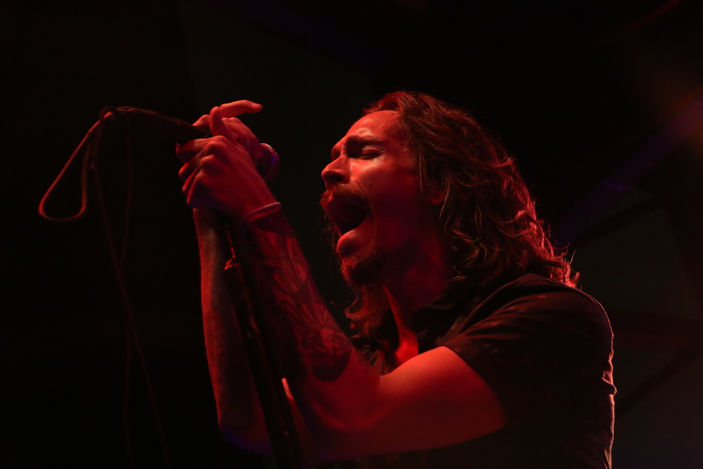 Brandon Boyd of Incubus performs at The Belmont during SXSW 2015. Photo by Joshua Guerra.