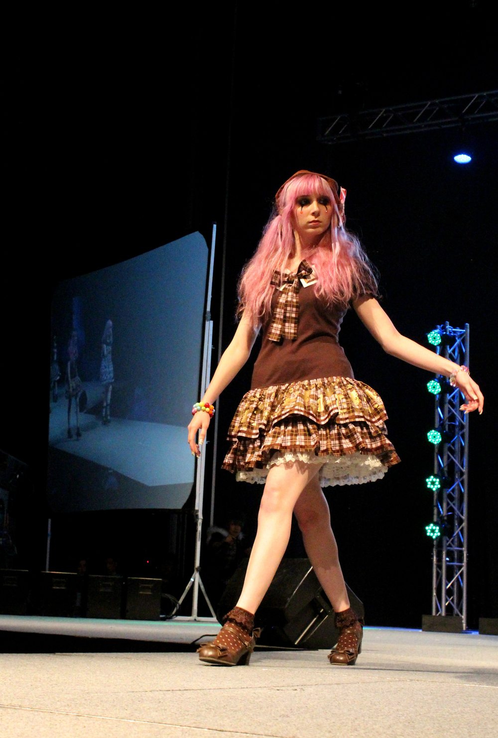 Becky Maset walks down the runway at Anime Matsuri's Lolita fashion show. Anime Matsuri hosts the largest Japanese fashion show in the United States.