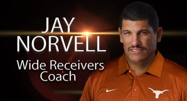 New play caller for Texas, Jay Norvell, replaced Shawn Watson following the game against Notre Dam. Photo courtesy of Texas Athletics.