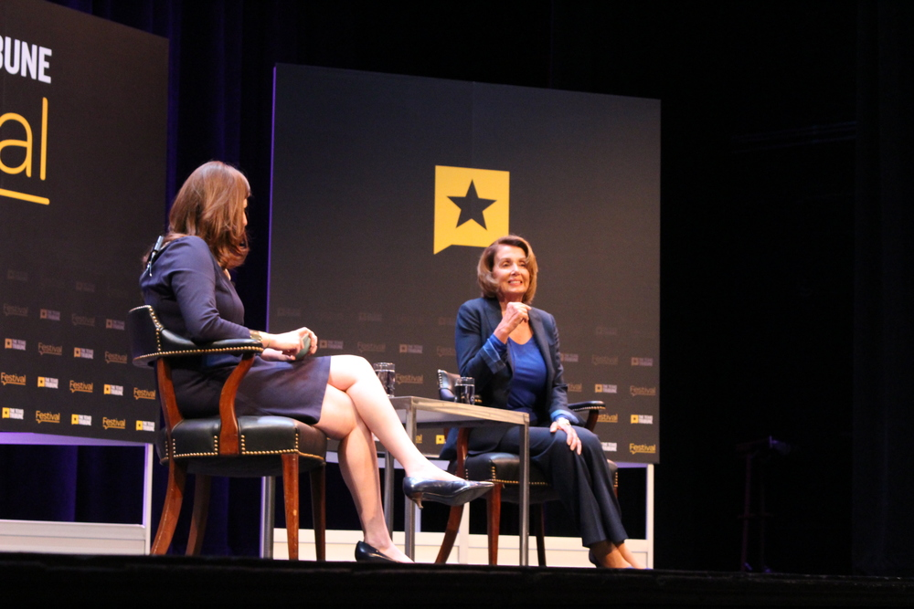 U.S House Democratic Leader Nancy Pelosi at Texas Tribune Festival.