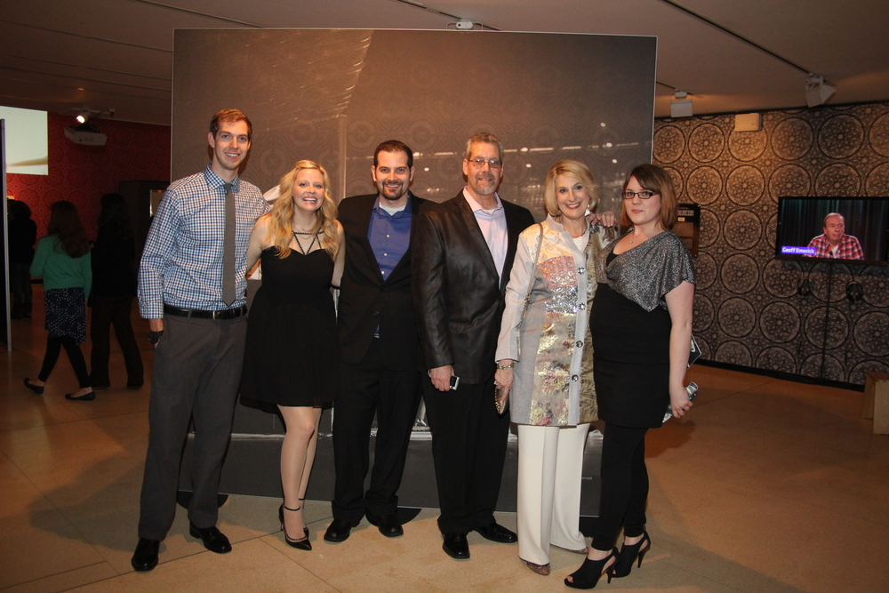 "The Naboshek family at the grand opening of the ""Ladies and Gentleman.. the Beatles!"" exhibit in New York City. Photo courtesy of Bev Naboshek"
