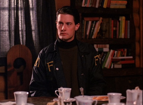 """AGENT DALE COOPER    Just like his shady past, Agent Dale Cooper's outfits are layered and complex. Cooper dresses in a way that echoes his can-do personality, while the gloomy, monochromatic palette of his outfits indicate his darker side. Bundle up your mysterious past with a bomber jacket from    ASOS   , a pullover from    LL Bean   and a """"damn fine"""" turtleneck from Austin's very own    STAG: Provisions for Men   ."""