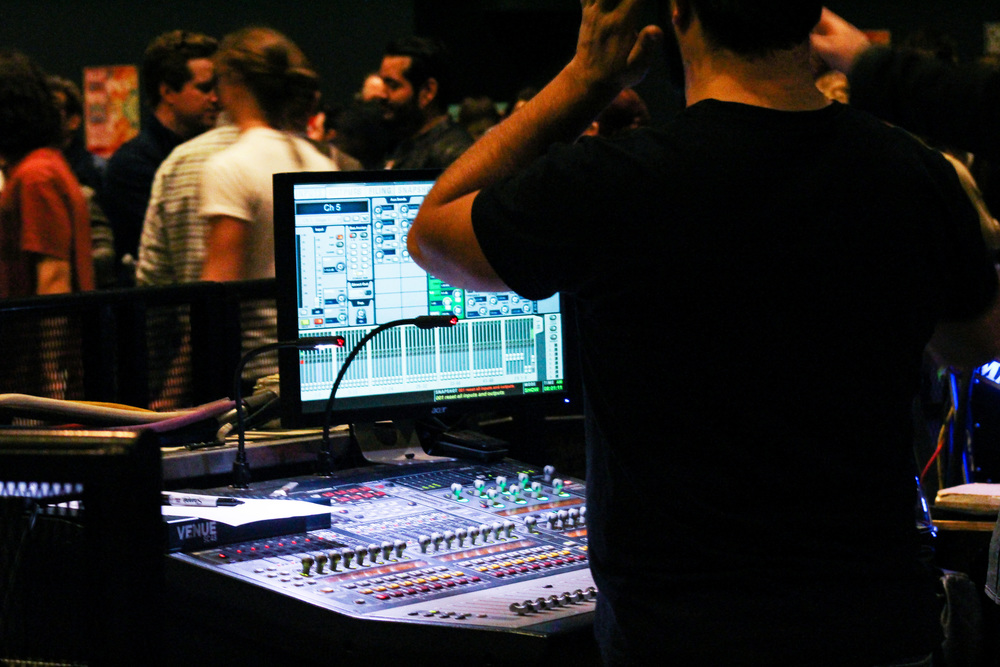 """As the """"Feel the Love"""" Expo is in full swing, local DJ's play their mixes while the public talk to other music organizations."""