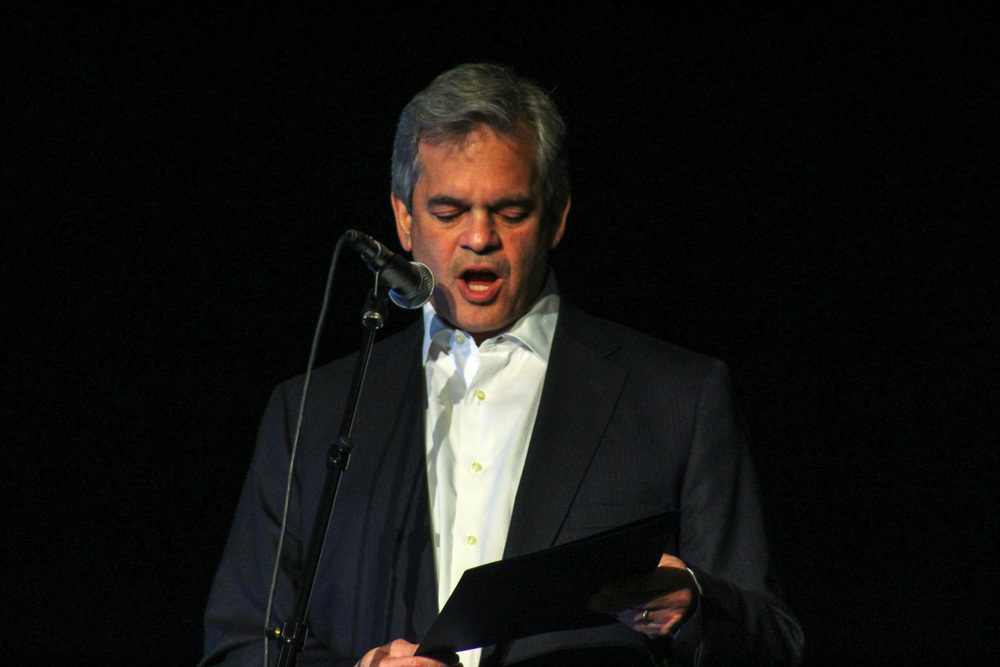 Austin Mayor Steve Adler opens the event with a speech promoting and supporting the local music community.