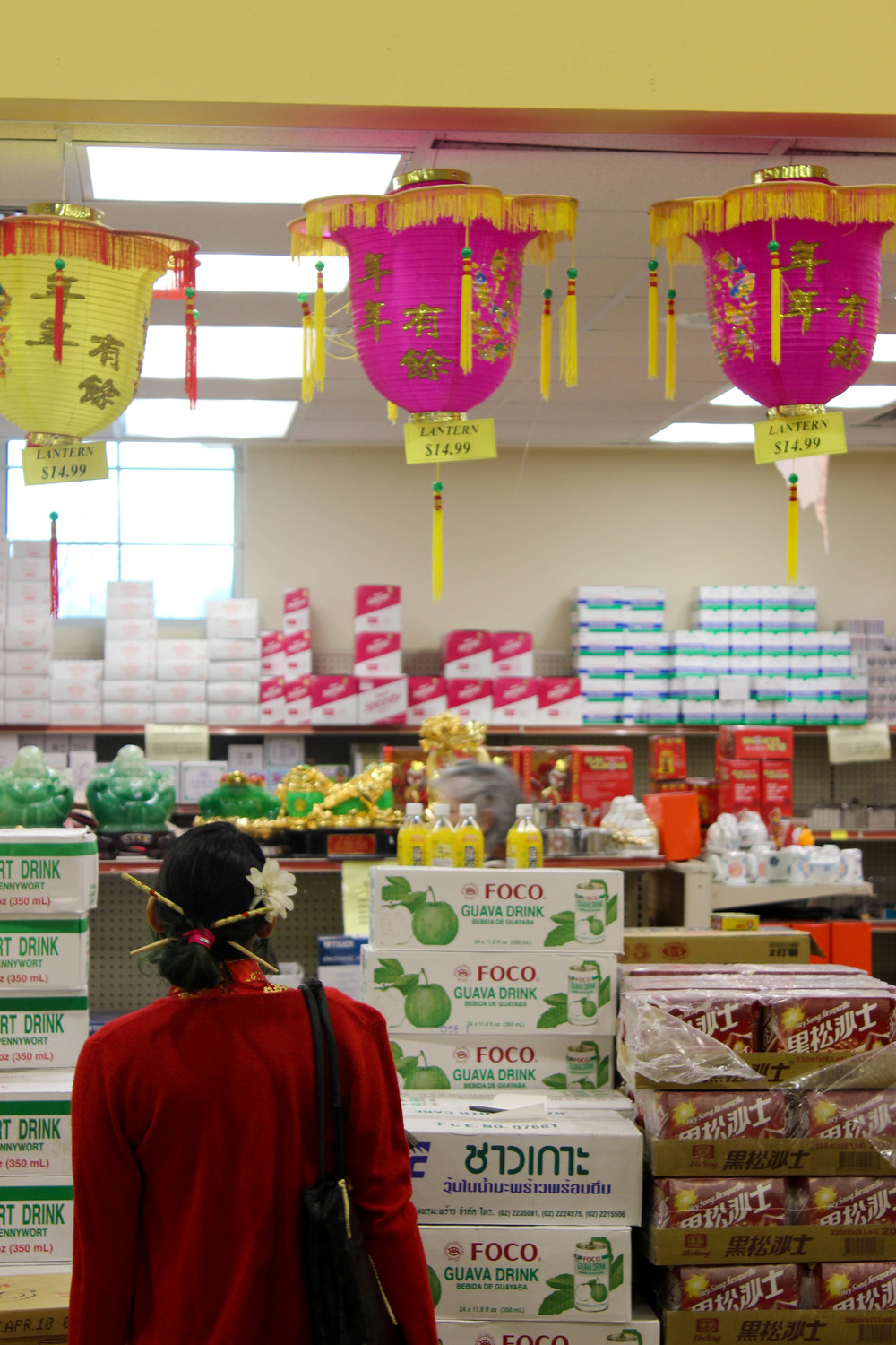 The Chinatown Market sells Chinese New Year decorations.