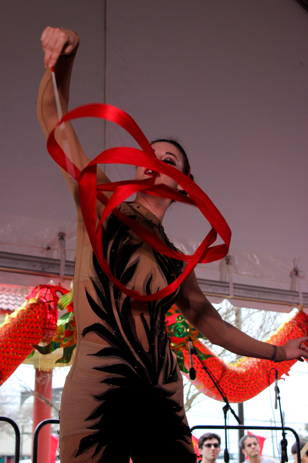 One of the Draiku dancers hypnotizes the crowd with this portion of the performance.