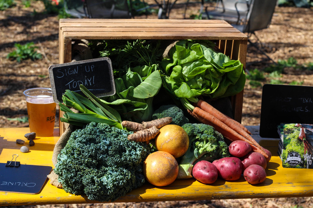 Farmhouse Delivery promotes local farmers and encourages the public to sign up for their delivery services.