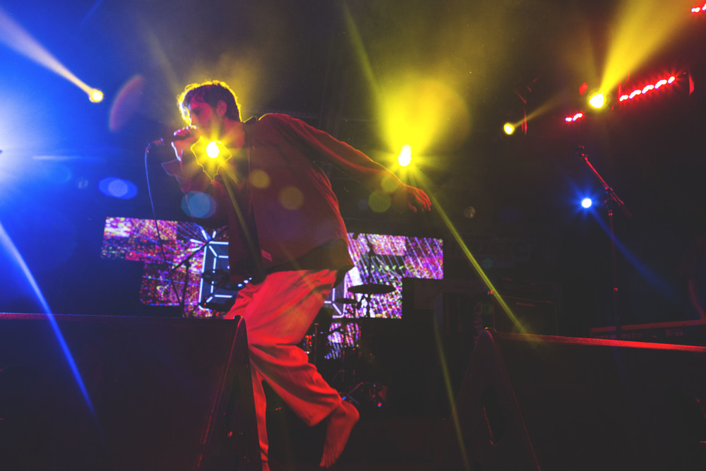 Oscar and the Wolf dances on stage at Nylon's Neon Gold showcase at Empire Control Room and Garage on March 18.